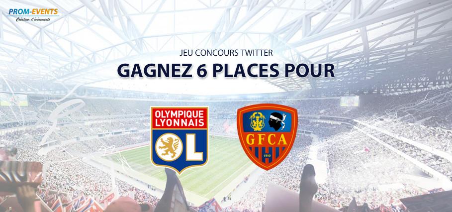 Concours Twitter : gagnez 6 places pour OL-Ajaccio !