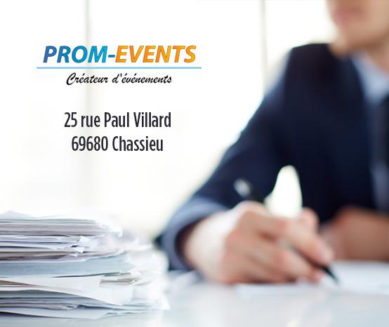 Le bureau Prom-Events s'installe à Chassieu !