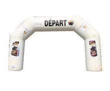 Arche départ / arrivée blanche (personalisable avec vos logos)