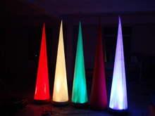 Cônes et tubes gonflables lumineux