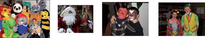 Mascottes / Père noël / Maquillages / Clowns