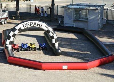 Nouveau chez PROM-EVENTS, le circuit gonflable et les karting éléctriques...