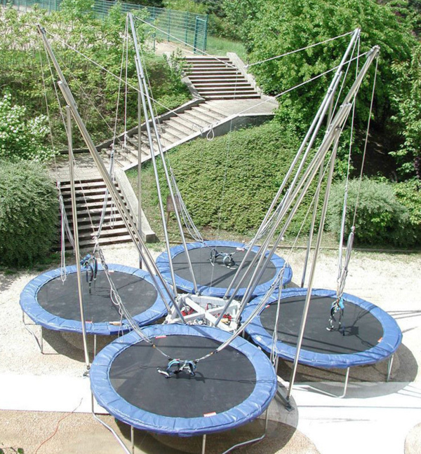 Location de trampolines 4 pistes