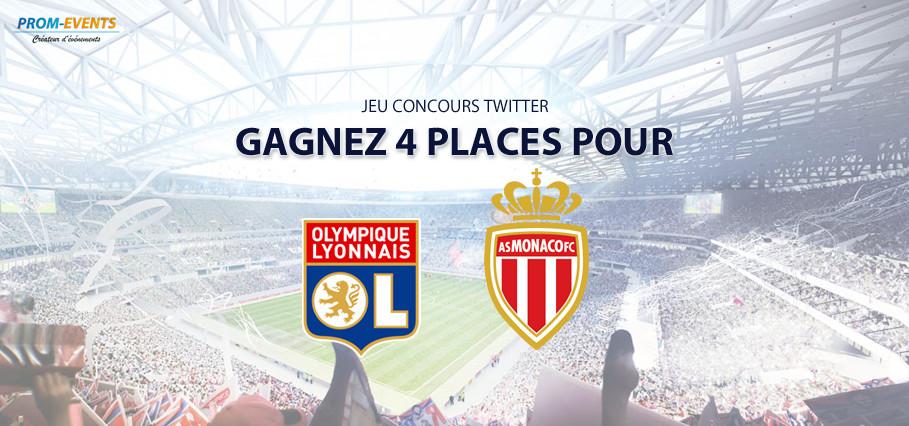 Concours Twitter : gagnez 4 places pour OL-Monaco !