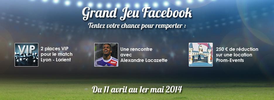 Un jeu concours Facebook pour les fans de l'OL !