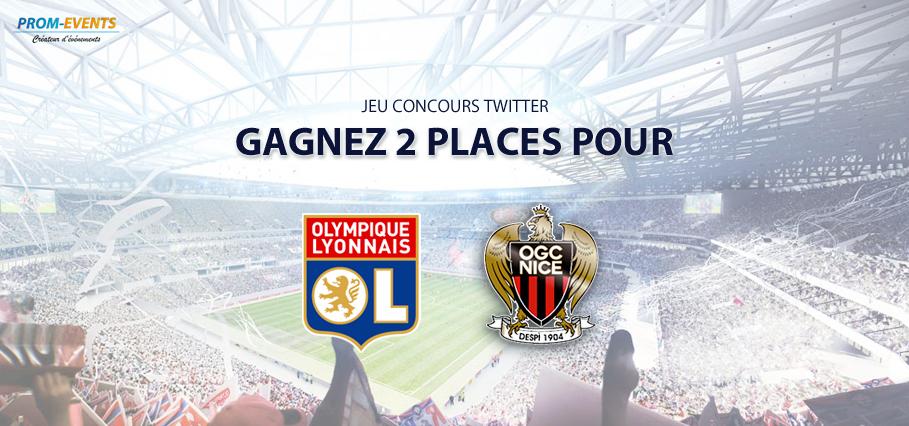 Concours Twitter : gagnez 2 places pour OL-Nice !